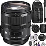 Sigma 24-70mm f/2.8 DG OS HSM Art Lens for CANON EF w/ Sigma USB Dock & Advanced Photo and Travel Bundle