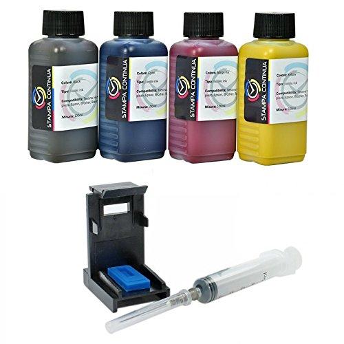 Кit Carga Cartuchos HP N ° 300 Negro y Color, Tinta InkTec Refill ...