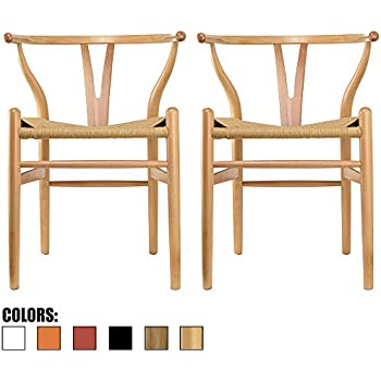 Beau 2xhome   Set Of Two (2)   Natural   Wishbone Wood Arm Chair Armchair