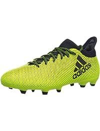 Boys' X 17.3 FG J Soccer Shoe, Black/Solar Red/Solar...
