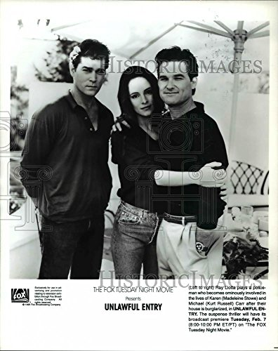 1995 Press Photo Ray Liotta, Madeline Stowe, Kurt Russell in Unlawful Entry