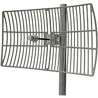 Altelix 5 GHz 28 dBi WiFi High Gain Directional Wi-Fi Parabolic Grid Antenna (4900-5850MHz) N-Female