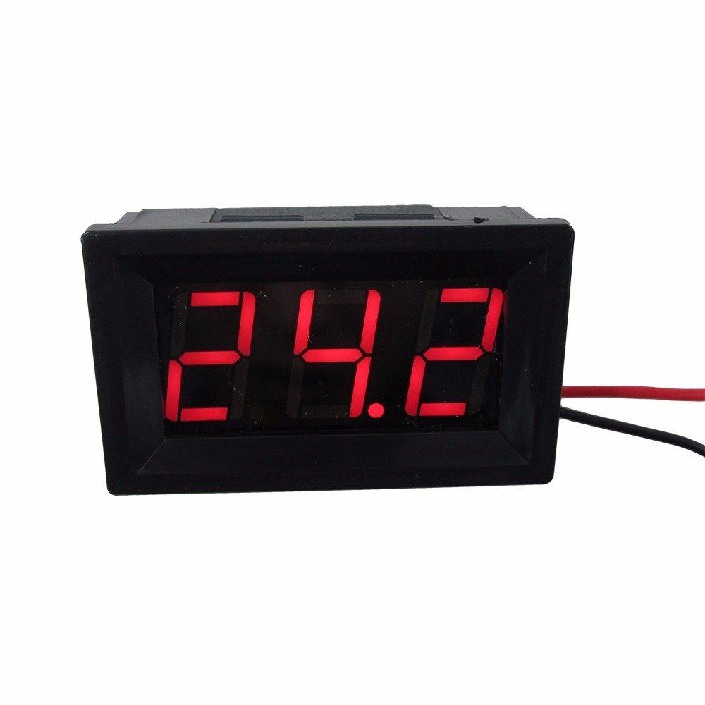DIGITEN 0.56' Blue DC 4.5-120V Digital Voltmeter Voltage Measurement 2 Wires Gauge LED Panel