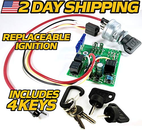 John Deere Starter Ignition Key Switch Module AM132500 - LX255 LX266 LX277 LX279 LX280 LX288 LX289 w/ 4 Keys - HD Switch