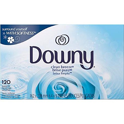 Downy Clean Breeze fabric softener sheets (120ct, Clean Breeze)