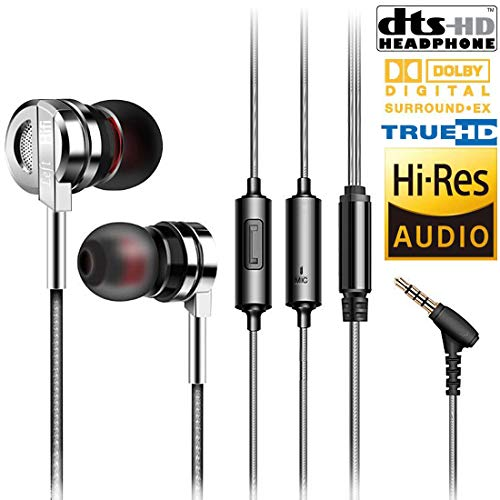 Earbuds,Earphones,Headphones,HaRuion in-Ear Earbuds,Metal Ear Buds,Extra Bass with Mic/Remote Control in Ear Earbud,Powerful Deep Bass for Apple iPhone/Samsung/Huawei/Sony Mobile Tablet Music Players