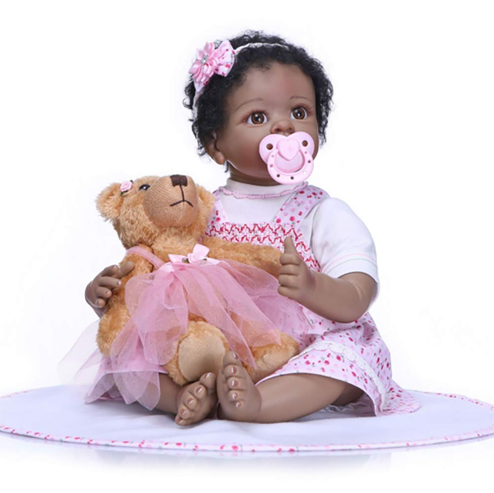 conveniente ZIYIUI 23 Pulgadas Reborn Baby Doll Estilo Indio Suave Vinilo Vinilo Vinilo de Silicona Hecho A Mano Bebé Recién Nacido Niña Niños Juguete de Regalo de Cumpleaños Infancia Jugarmate  Garantía 100% de ajuste
