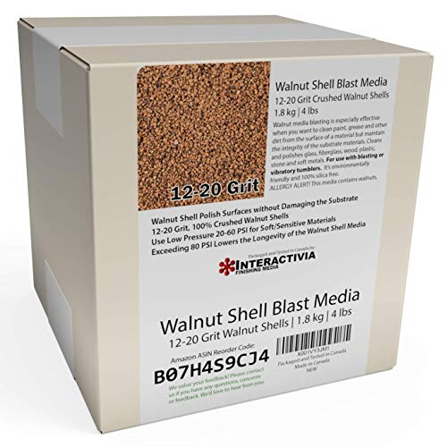 Cheapest Price! 1.8 kg or 4 lb Ground Walnut Shell Media Abrasive 12-20 Grit for Tumbling, Vibratory...