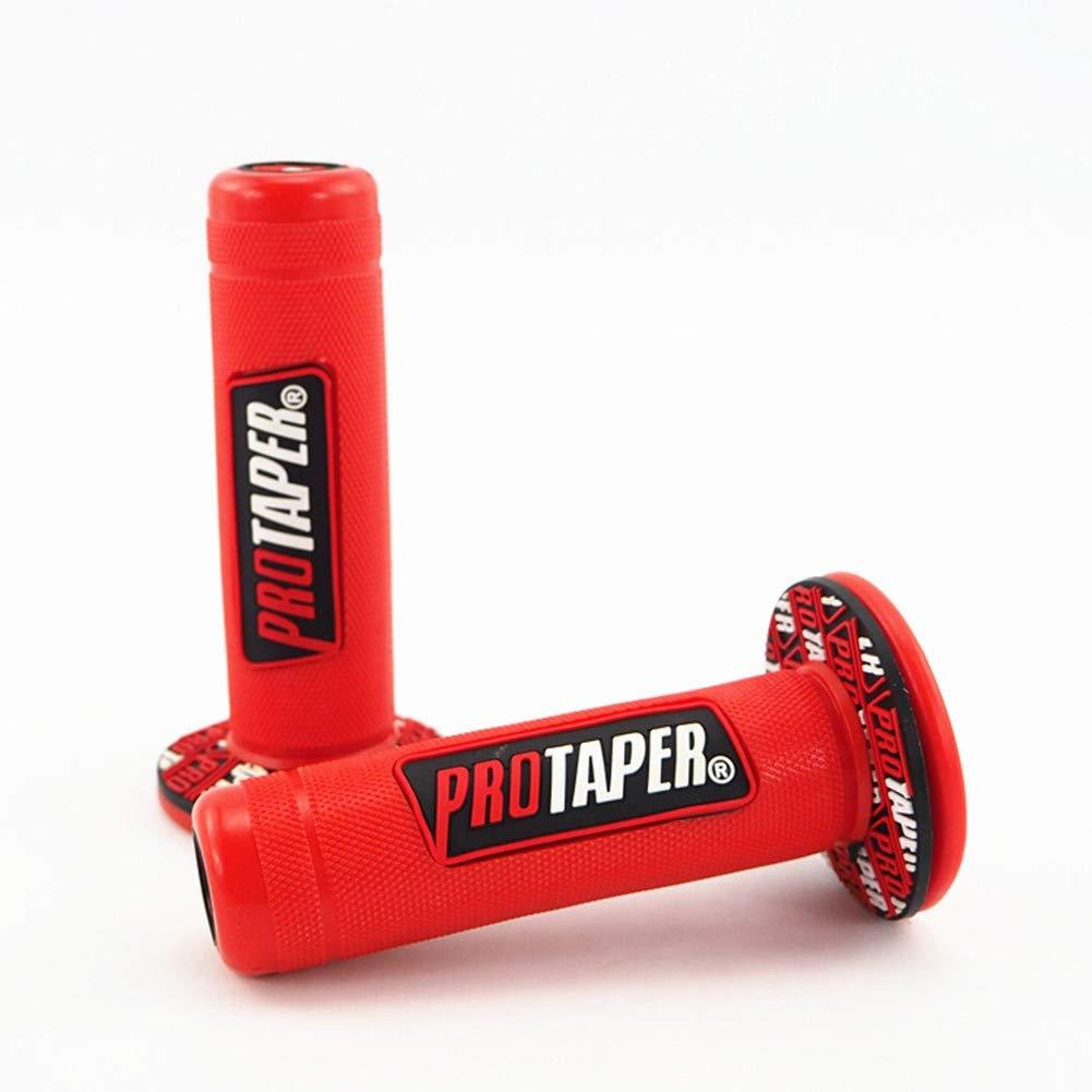 Greyghost Universal Motorcycle Bike Grips Pro Taper Dirt Pit Grips Rubber Anti-slip Handle Grip for 22mm 7//8 Handlebars