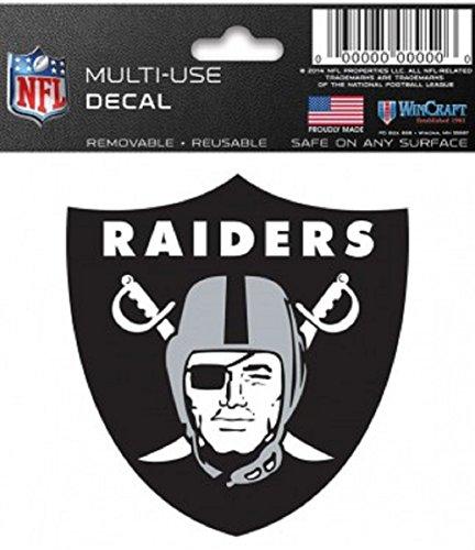 (Oakland Raiders NFL 3x3 Static Window Cling Decal)