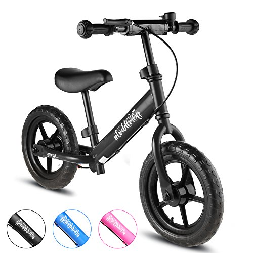 BIKFUN Balance Bike for Kids, No Pedal Traning Children Cycles with Adjustable Handlebar and Seat, Toddler Walking Bicycle with Bell and Brake