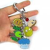 1Pcs Cartoon Pvz Plants Vs Zombies Keychains Metal Figures Pendants Key Chains Ota140