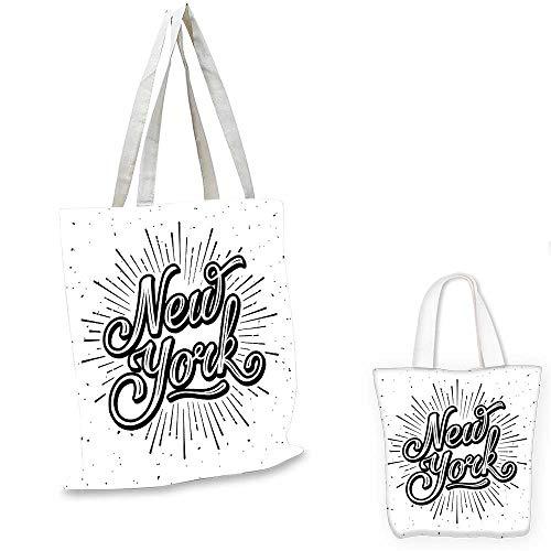 - Vintage canvas messenger bag New York Typography Star Burst Calligraphy Hand Written Hipster Lettering Artwork shopping bag for women Black White. 12