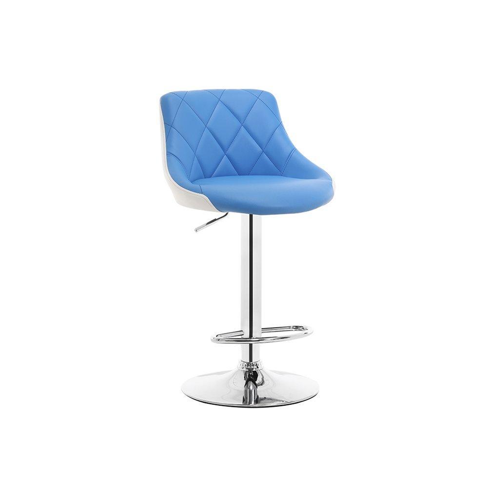 DALL カウンターチェア FL-81オフィスチェア 高い足 スツール フロントベンチ バースツール 組み立てることができます L ドロップ 高さ86-106cm (色 : 青) B07DHD5BZN 青 青