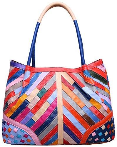 Purses Leather Handbags Cross Sheepskin Bag 45 Body Fashion Tote Colorful Heshe Shoulder Womens Av6xR