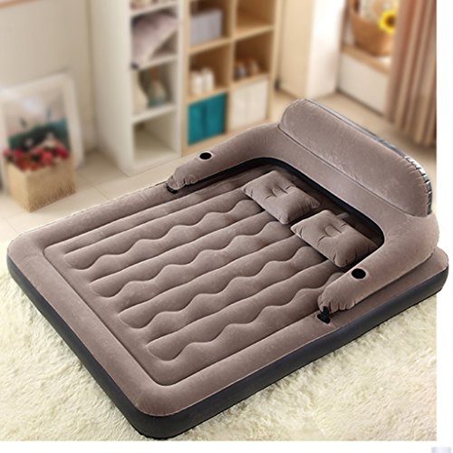 Household Air Cushion Bed Double Padded Inflatable Mattress Sofa Bed Outdoor Portable Single Bed Temporary Bed (Color : Gray) from Bean Bags
