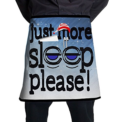 XiHuan Grill Aprons Kitchen Chef Bib Just More Sleep Please Professional For BBQ Baking Cooking For Men Women Pockets (Best Korean Bbq San Francisco)