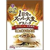 日清シスコ 1日分のスーパー大麦グラノーラ 3種のまるごと大豆(200g) フード 穀物・豆・麺類 シリアル類 [簡易パッケージ品] home-ak