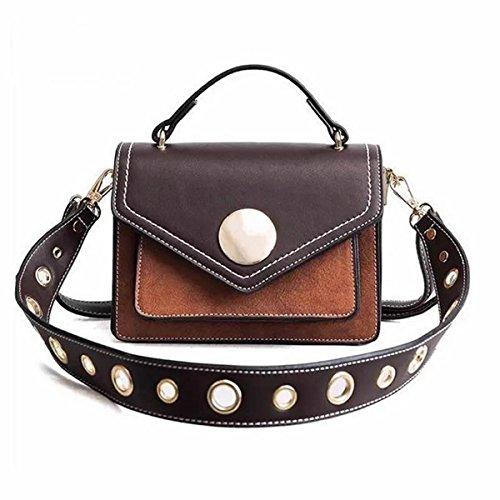 Crossbody Shoulder Bag Mini Shoulder Bag Women Girls England Style Brown