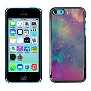 Estrellas Nebulosas púrpura del trullo Cielo Cosmos - Metal de aluminio y de plástico duro Caja del teléfono - Negro - iPhone 5C