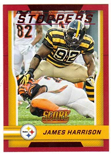 2016 Score Stoppers Red #9 James Harrison Steelers Football Card NM-MT