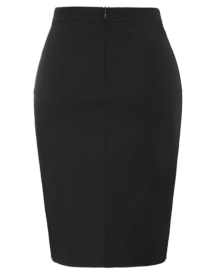 c5c0e68eb9 Kate Kasin Women's Knee Length Pencil Skirts Slim Fit Business Skirt at  Amazon Women's Clothing store: