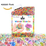 AINOLWAY Kids Tactile Sensory Water Beads Growing in Water Toy Clear Jelly Ball for Candles, Wedding Centerpiece, Vase Decoration 9oz Over 30,000