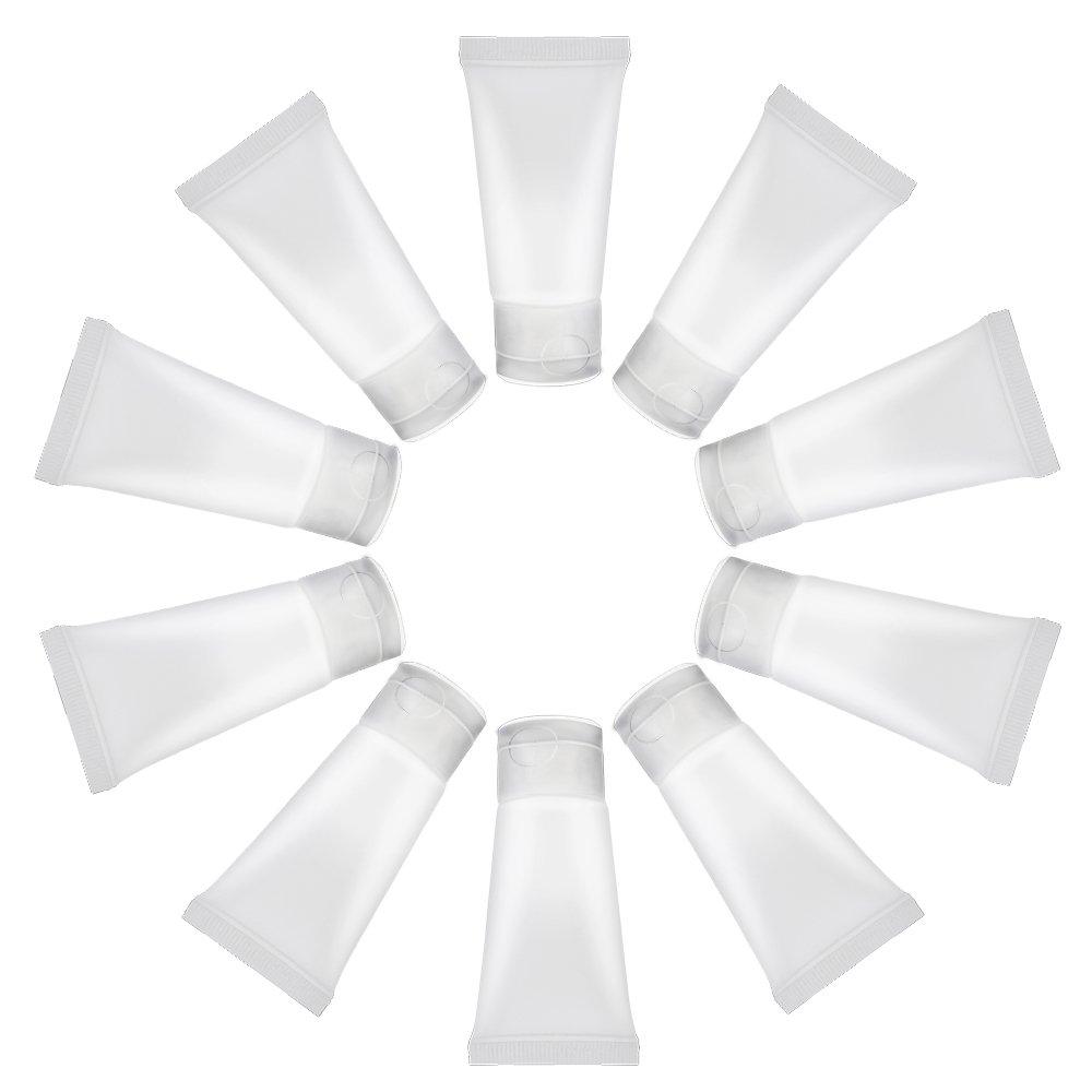 10 stücke PVC 15 ml Leere Nachfüllbare Plastikflasche Kosmetische Weiche Rohr mit Kappe Reise Make-Up Container Shampoo Gesichtsreiniger Lotion Flasche oobest