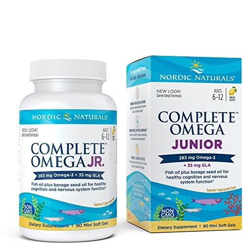 Nordic Naturals - Complete Omega Junior, Promotes Brain, Bone, and Nervous and Immune System Health, 90 Soft Gels (Chewable 90 Junior)