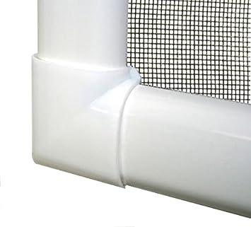 Braun oder Anthrazit und Fiberglas-Gewebe in Schwarz Fliegengitter in verschiedenen Gr/ö/ßen ausw/ählbar Bausatz zu Selbstmontage Insektenschutz f/ür Fenster Basic mit Alurahmen in Wei/ß