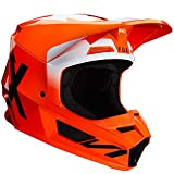 Fox Racing Werd Men's V1 Off-Road Motorcycle Helmet - Fluorescent Orange/Small