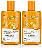 Avalon Organics Intense Defense Balancing Toner, 8.5 Fluid Ounce (Pack of 2)