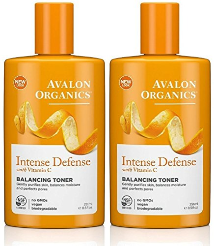 Avalon Organics Intense Defense Balancing Toner, 8.5 Fluid Ounce (Pack of 2)