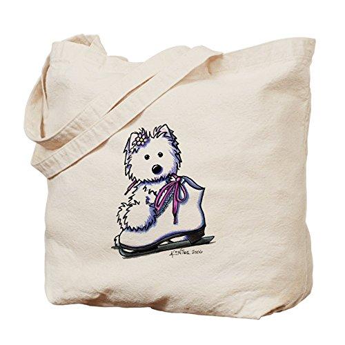 CafePress–Pattini da ghiaccio Diva–Borsa di tela naturale, panno borsa per la spesa
