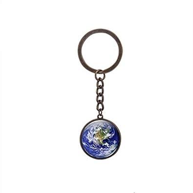 Llavero con diseño de globo de la Tierra para viajes ...
