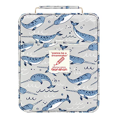 Pencil Case Holder Slot - Holds 202 Colored Pencils or 136 Gel Pens with Zipper Closure - Large Capacity Polyester Pen Organizer for Watercolor Pens or Markers - Perfect for Artist Narwhal