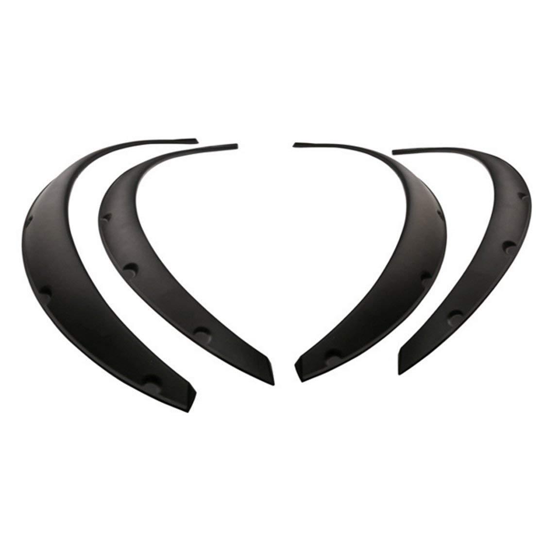 4 pezzi universale flessibile auto parafanghi flares extra wide ruota del corpo arcata ruota protezione sopracciglio del labbro adesivo trim BlackPJenny