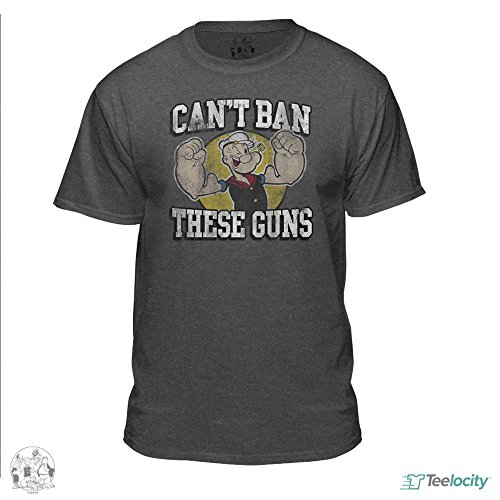 Popeye The Sailor Man Can't Ban These Guns Official Vintage Fitted T-Shirt - Official Ban
