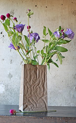 Ceramic Paper Bag Vase (Sandstone Vase)