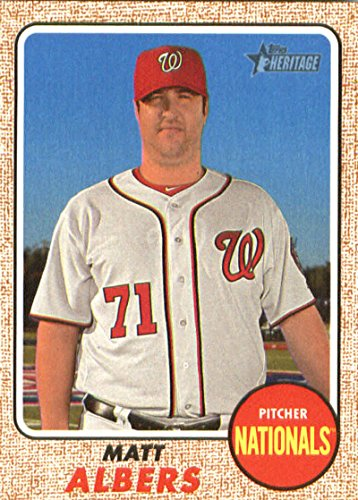 (2017 Topps Heritage High Numbers #634 Matt Albers Nationals MLB Baseball Card NM-MT)