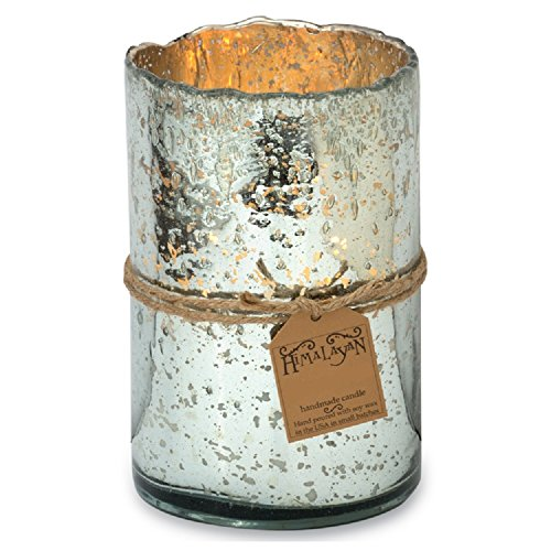 Himalayan Trading Post 818547015322 Large Silver Bubble Candle (Silver Mistletoe)