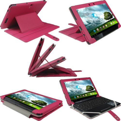 iGadgitz Pink 'Guardian' PU Leather Case Cover for Asus E...