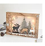 Arturesthome Christmas Led Decoration Light, Beside Desk Decor Lamp, Romantic Home Decor, Gift for Winter Festival, Elk Table Light