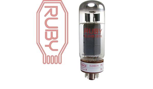 Ruby Tubes EL34BSTR Pair Matched