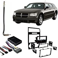 Fits Dodge Magnum 05-07 w/NAV Double DIN Harness Radio Dash Kit - Black
