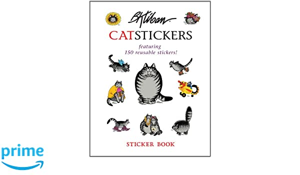 B Kliban Cat Stickers Sticker Book 9780764963452 Books