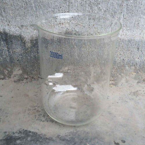 Deschem 20000mL Borosilicate Glass Beaker,20L Low Form,Spout Mouth,Lab Glassware