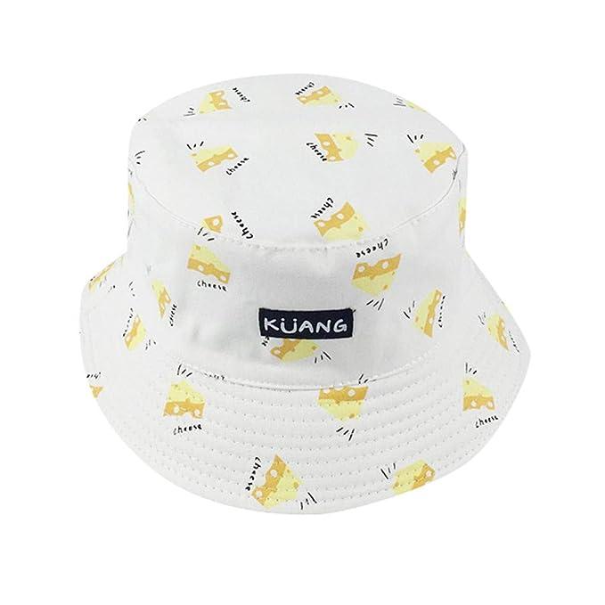 Yvelands Unisex Adulto Doble Cara Desgaste Banana Pescador Sombrero Protector Solar al Aire Libre Gorra (Blanco, Un tamaño): Amazon.es: Ropa y accesorios
