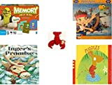 Children's Gift Bundle - Ages 3-5 [5 Piece] - Shrek Forever After Memory Game - Disney Jake and The Never Land Pirates Puzzle Toy - Ty Teenie Beanie Babies - Pinchers the Lobster - Inger's Promise H