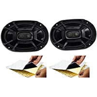 (2) Polk Audio DB692 6X9 450 Watt Car ATV/Motorcycle/Boat Speakers + Rockmat